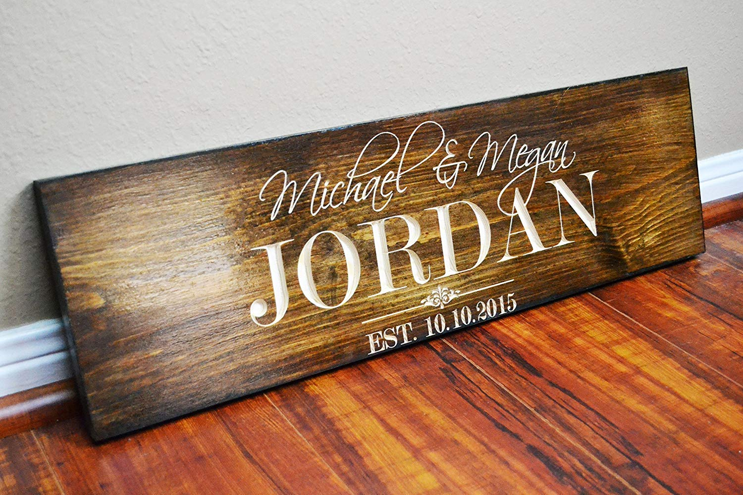 FAST SHIPPING Personalized Family Name Sign Wedding Gift Custom Carved Wooden Signs Last Name Décor Established Wood Plaque Engraved .sign#233