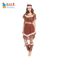 adult pocahontas indian lady fancy dress costume