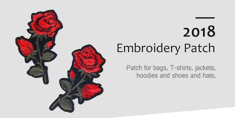 Craft For Clothes//Hat//Bags//Shoes Embroidery Applique Rose Flower Patch Sticker