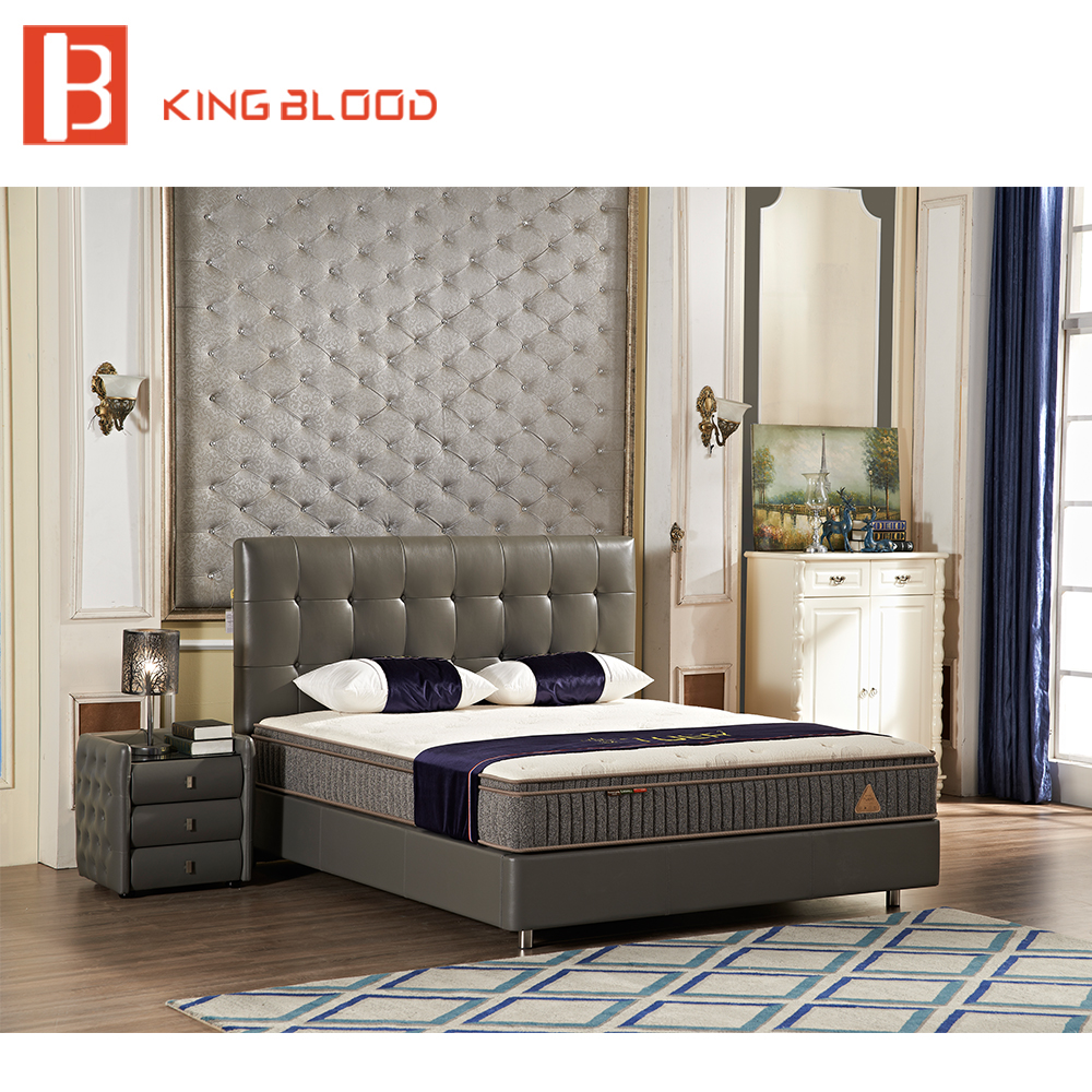 Modern Platform Bed Frame With Grey Leather Upholstery For Hotel Bedroom Sets Product On Alibaba