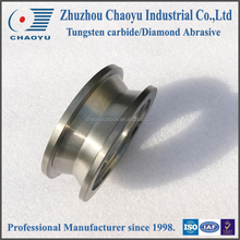 tc guiding rollers with polished face/V type tungsten steel carbide rollers for wire straightener