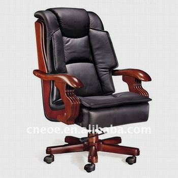 Exctutive Office Leather Wooden High Back Chair 6077 1