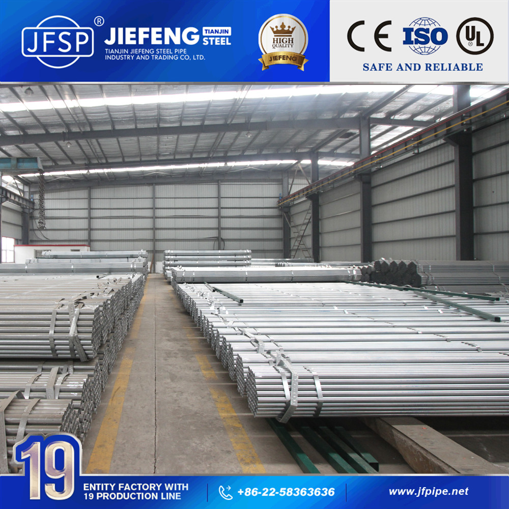 pre galvanized plain end steel pipe