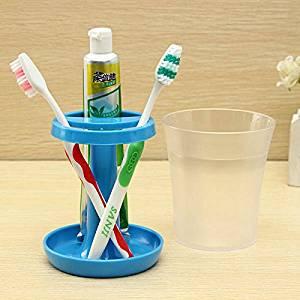 LKTShop Creative Table Lamp Shape Toothbrush Holder Wash Gargle Suit, Blue