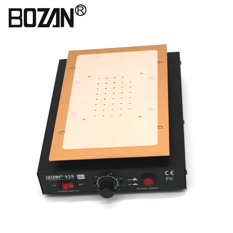 BOZAN 918B Hot selling Black Verwarming Plaat aluminiumlegering Touch Screen Glas Split Separator LCD Panel Reparatie Machine