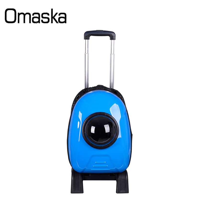2017 new custom waterproof wholesale pet carrier wheels airline China supplier backpack for pet