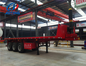 The hydraulic cylinder dump and tipping semi trailer from China truck chassis manufacturer on sale Dai