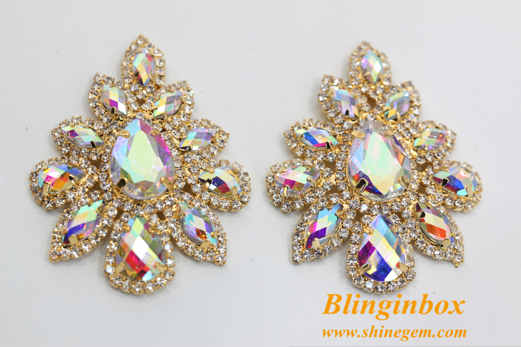 2018 new products sunflower shape crystal rhinestone wedding jewellery brooch