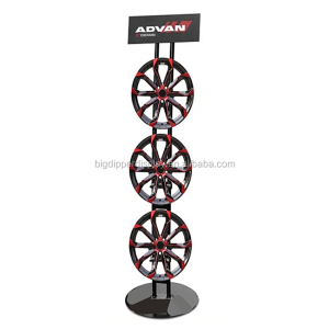 BDD-CAR18 4s store fixture promotion car tyre display stand rack