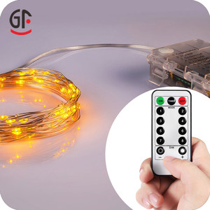 Garland Decoration Ip65 Copper Wire Lights Battery Operated Waterproof Remote Controlled