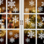 Christmas Mirror Decorative Snowflake Window Glass Cling Wall Stickers