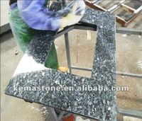 modern Blue Pearl Granite Bathroom Vanity Tops
