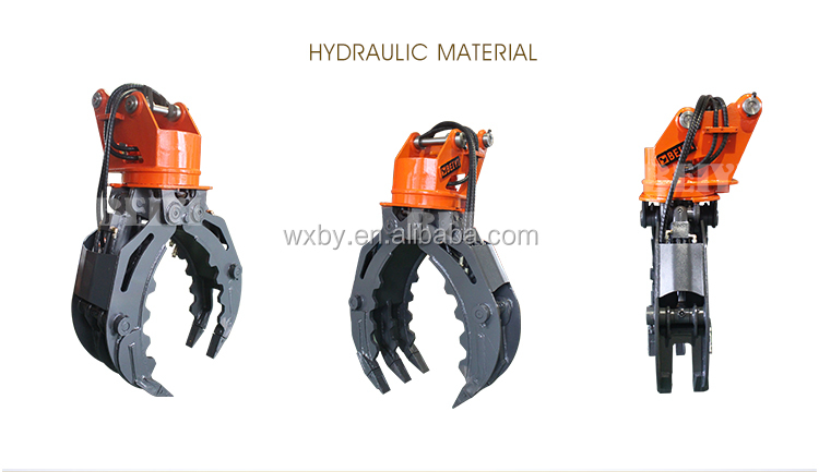 BEIYI BYKL 06 Excavator Accessories Hydraulic log grapple for excavator