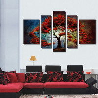 Wholesale abstract modern tree decorative oil painting on canvas