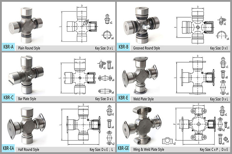 Kbr-5510-00 Auto Chassis Parts Tractor Universal Joint Cross - Buy  Universal Joint,Tractor Universal Joint,Tractor Universal Joint Cross  Product on