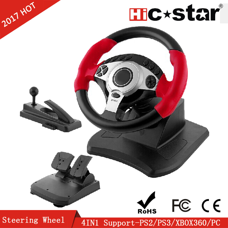 Wholesale Video Game Steering Wheel prices For PS2 PS3 XBOX360 PC 4 IN 1 Racing Wheel pc