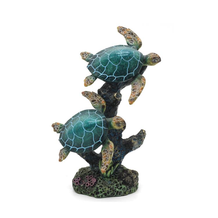"Sea Turtle Large Figurine 13/"" Giftco International Statue Wildlife Sculpture"
