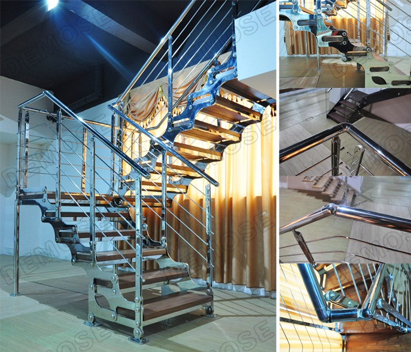Home Stairs Designs Prefabricated Stairs Outdoor Carbon Steel Staircase