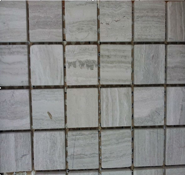 Manufacturer is suppling wood grain marble/title mosaic