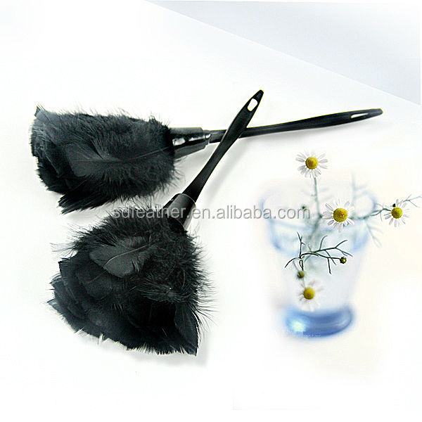 Black Turkey feather cleaning brush feather turkey duster