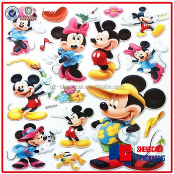 Lovely cartoon die cut stickers supplier provide custom puffy stickers made of vinyl material on alibaba