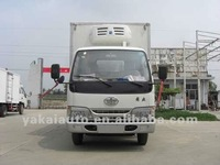FAW mini refrigetated truck ,OEM refrigerated and insulated truck body