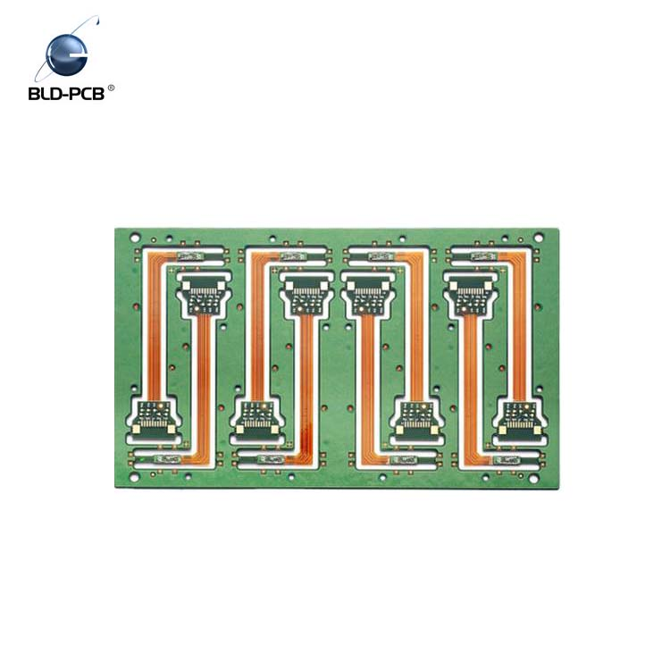 White Silkscreen HAL Four Layer Rigid Flex PCB , Automotive PCB For Engine Control Systems