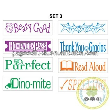 Custom Teacher Stamp With QuotPerfectGood JobCheckedGreat