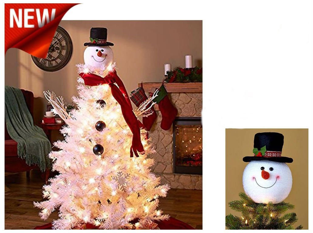 get quotations snowman decoration christmas tree topper holiday decor xmas party ornament new