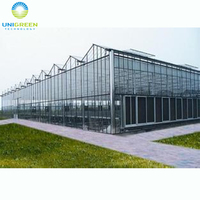Low cost commercia plastic polycarbonate used agricultural Professional Glass Greenhouse For Rose Flower