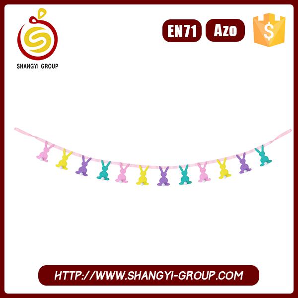 2016 New Product Bunny Outdoor Hanging Garland for Easter Decoration