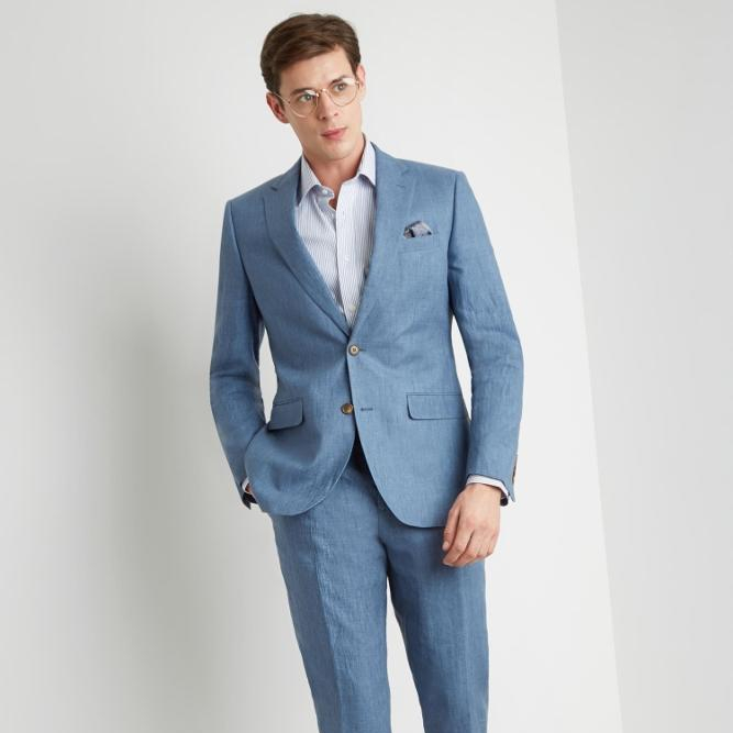 2019 Premium Sky Blue Linen Suit For Men Buy Grey Suits For Menslim Fit Suits For Mendouble Breasted Suit Product On Alibabacom