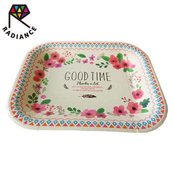 32x27cm Oblong Rectangle Disposable Paper Plates
