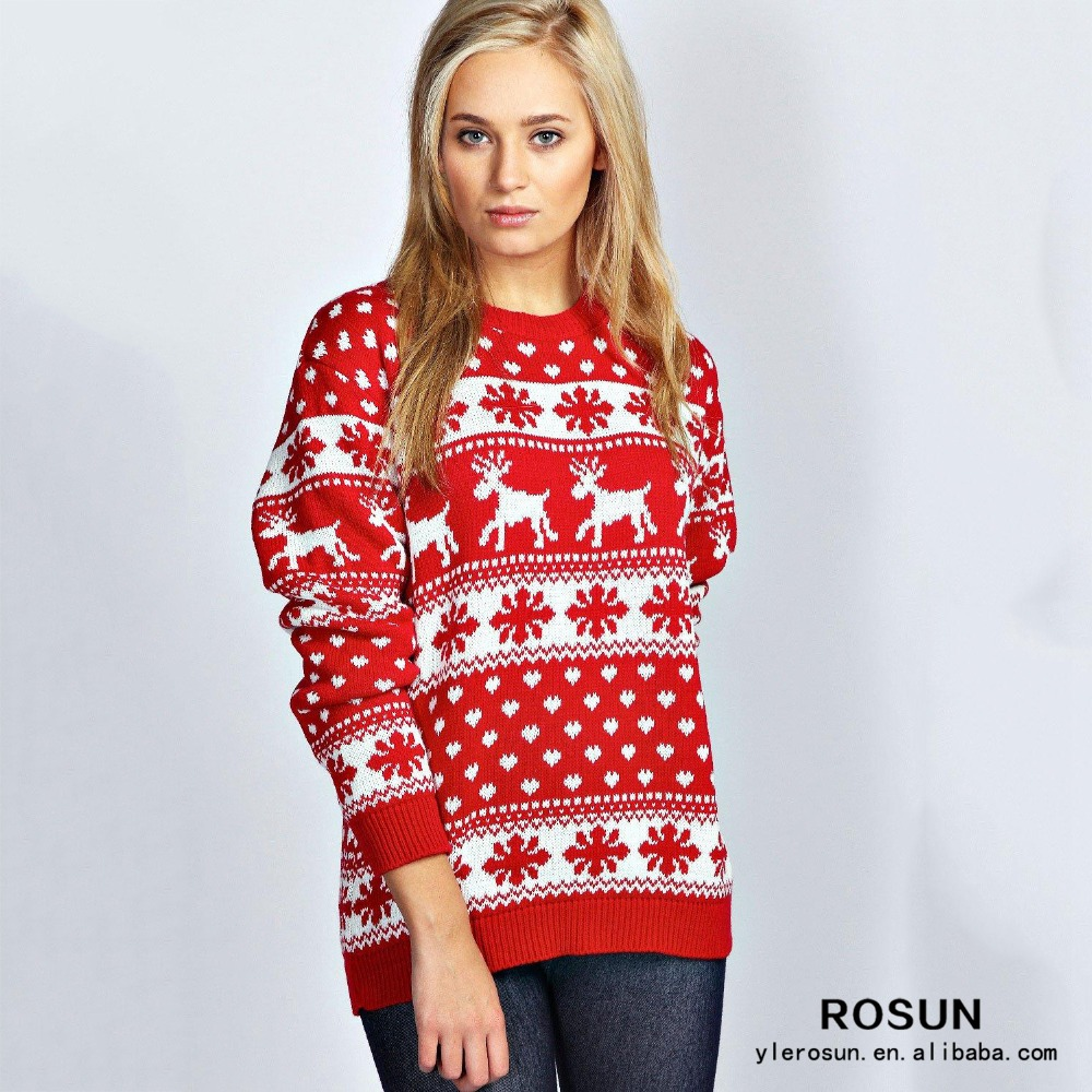 reindeer and snowflake knit pattern christmas sweater wholesaler buy christmas sweater wholesaleradult christmas sweatersknits sweaters for christmas