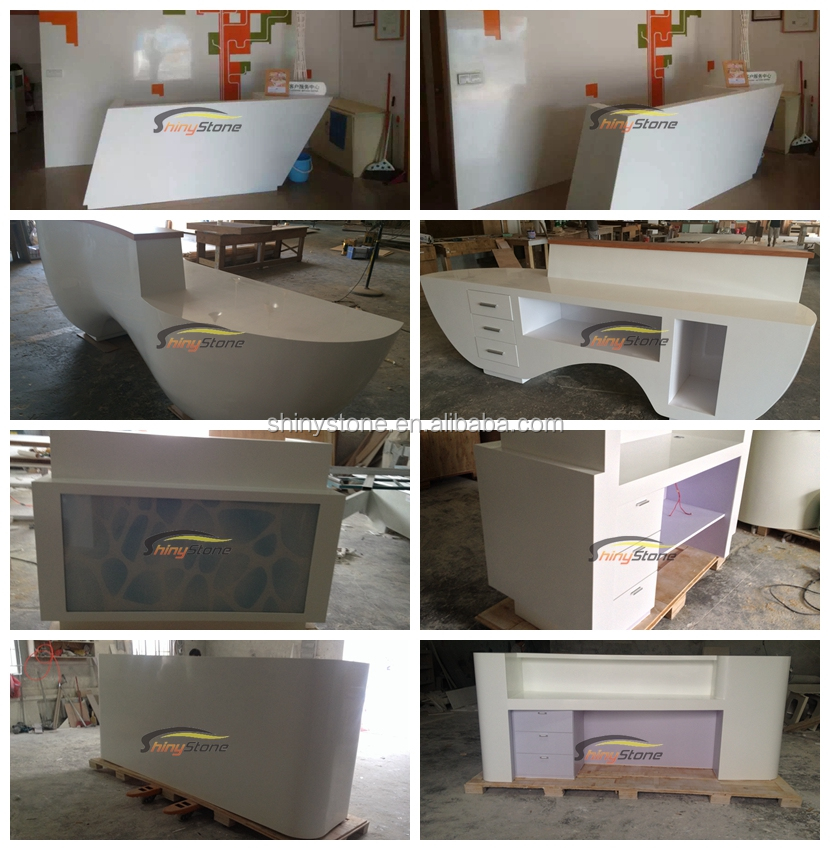 popular finish solid surface customer service counter