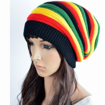 1f7be75b New fashion crochet patterns striped free jamaica knitted rasta hats for  sale