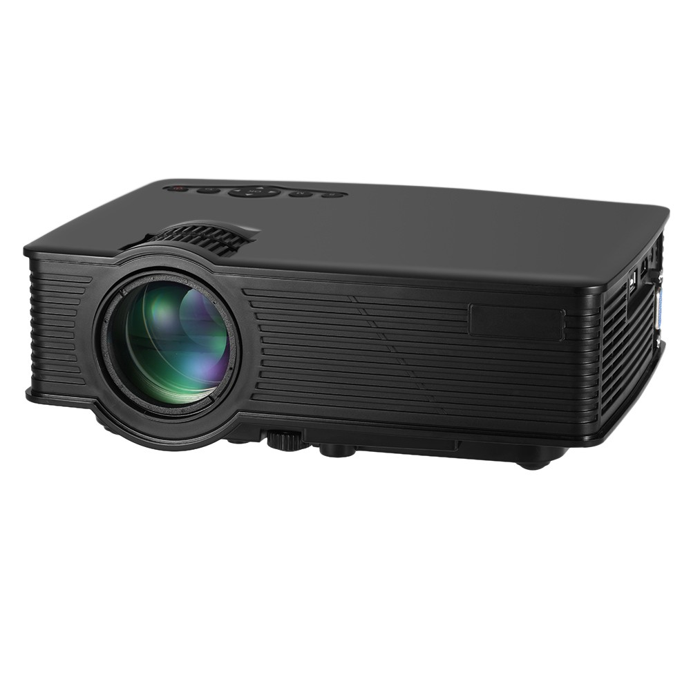 "1200 Lumens Portable Projector 1080P 800*480 Resolution EU Plug LED Projector Throw 120"" Screen Home Cinema Support HD"