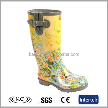 f48becba87f wonderful feather long made in china yellow color rubber shoes footwear womens  wide calf rain boots
