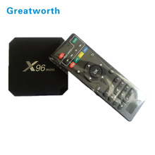 2018 Settembre EXPO Amlogic S905w 1g + 8g/2g + 16g Android 7.1 tv box 4 k WIFI <span class=keywords><strong>iptv</strong></span> box X96 MINI