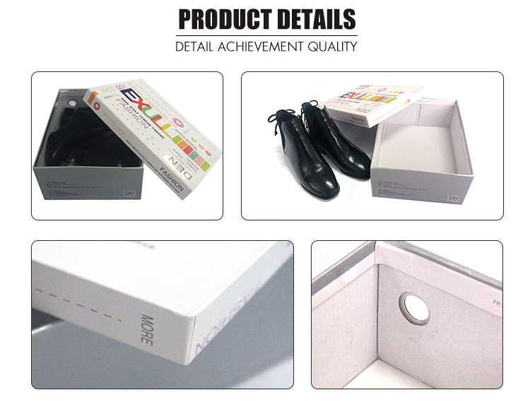 Custom leather shoe white packaging shoe box with logo