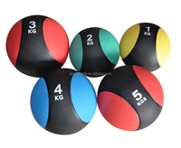 New design double color leather medicine ball medicine slam ball for sale