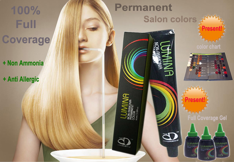 Lumina Wholesale Non Ammonia Professional Hair Color Cream Brand