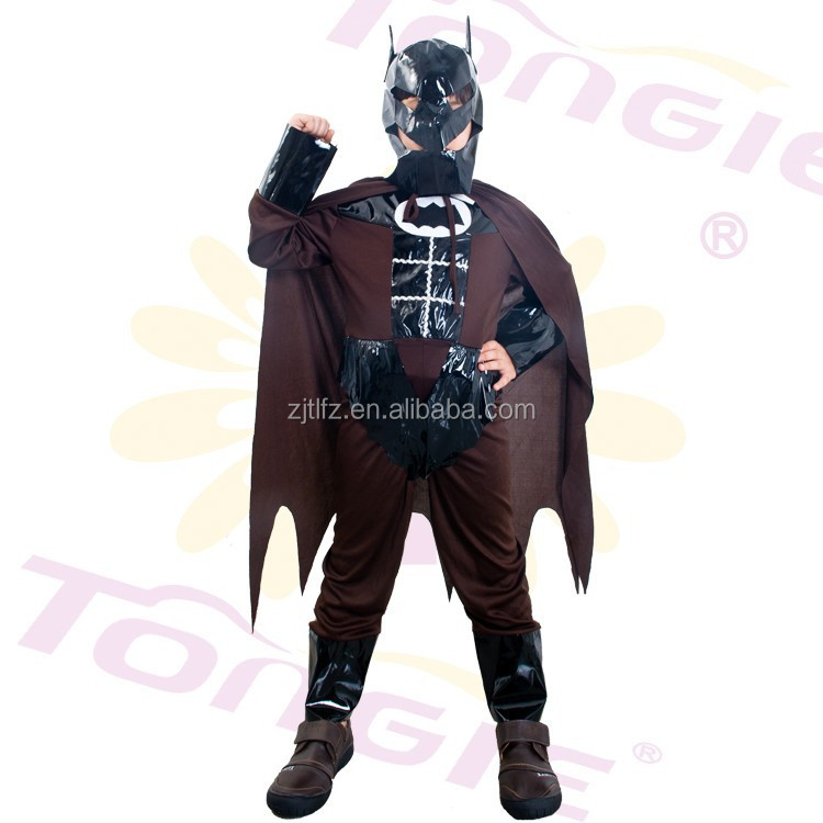 Hot sale halloween costume kids Bat man cosplay costumes carnival super hero costume