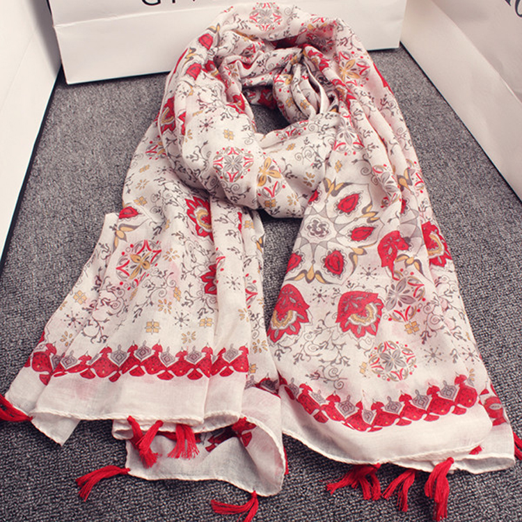 2017 Winter Women Bright Color Scarf Tassels Multifunctional Scarf