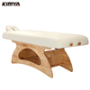 unique design solid wood base beauty bed facial table spa chair/massage bed
