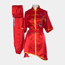 New fashion ricamo drago raso tai chi personalizzato cinese Kungfu uniforme