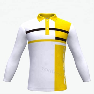 Brilliant Quality blank customize sublimated Mens long sleeve polo T-shirts