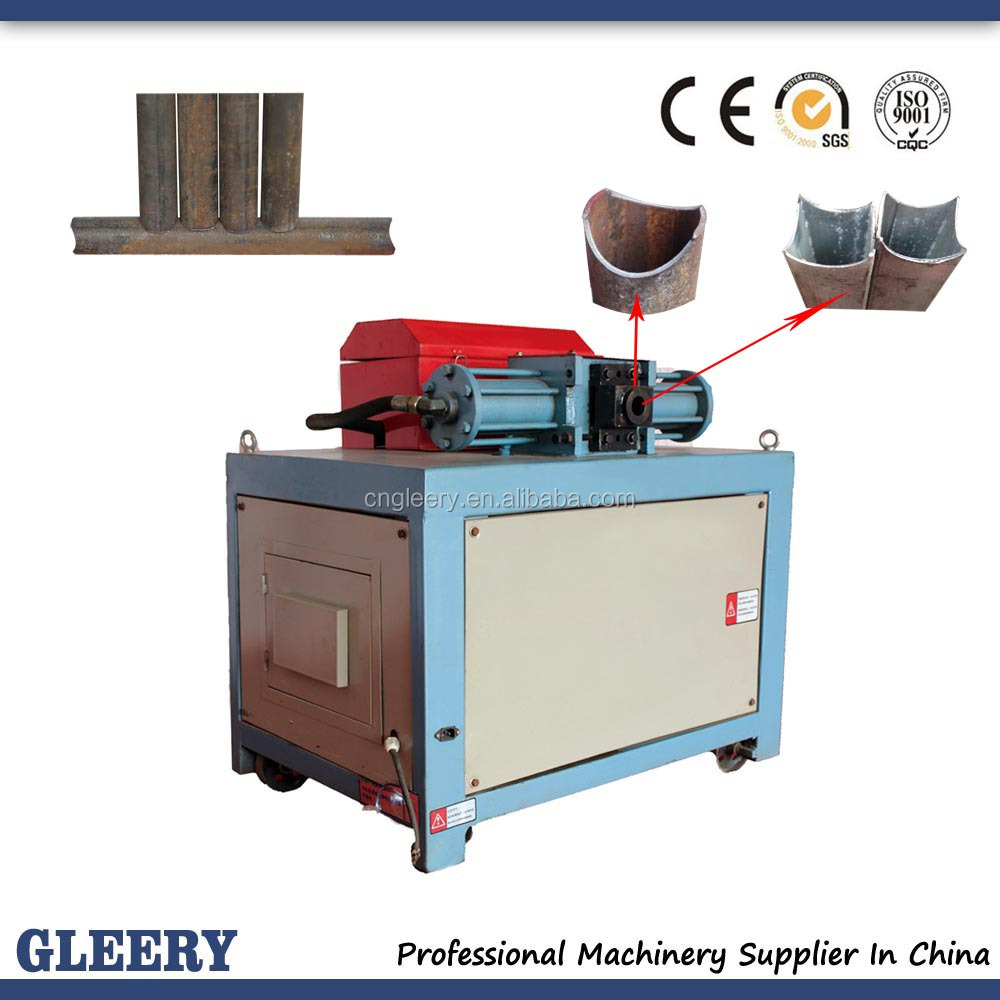 GLR-50 hydraulic steel pipe and tube notcher machine