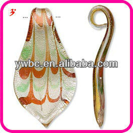 Leaf Beautiful Murano Glass Pendent and Charms