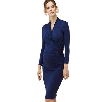 72121d46324 Schöne Herbst Frühling Mutterschaft Kleid für Schwangere Schwangerschaft  Kleidung Lässig Schwangere Kleid